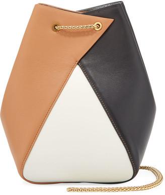 THE VOLON Mani Colorblock Bucket Bag