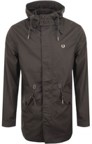 Fred Perry Fishtail Parka Jacket Brown