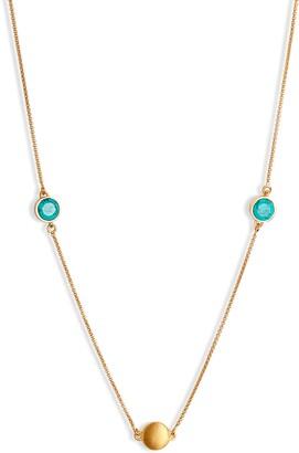 Dean Davidson Long Knockout Turquoise Charm Necklace