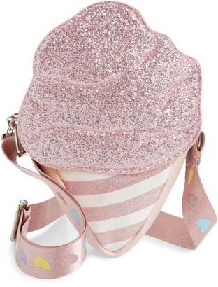 OMG Accessories OMG Glitter Cotton Candy Crossbody Bag