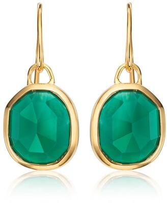 Monica Vinader Siren Wire Green Onyx earrings