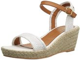 Polo Ralph Lauren Carmen Ivory Eyelet W/ Jute Fashion Wedge Sandal (Little Kid/Big Kid)