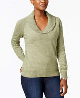 Karen Scott Shawl-Collar Cotton Sweater, Created for Macy's