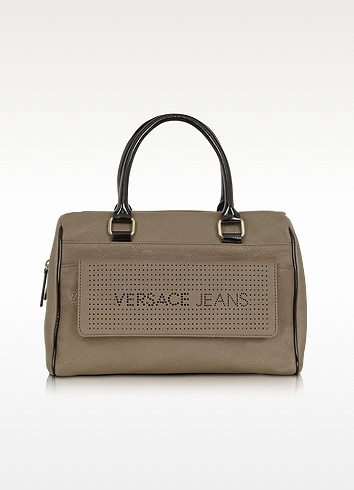 Versace Taupe Eco Leather Satchel