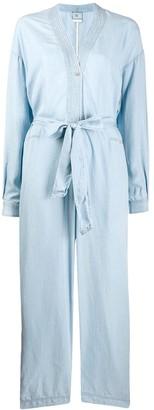 Forte Forte Tie Waist Long-Sleeved Jumpsuit