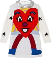Simonetta Knit Heart and Star Jumper Dress with Detachable Sequin Collar
