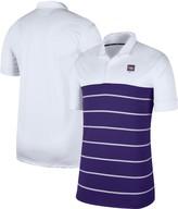 Nike Men's White/Purple LSU Tigers Striped Polo