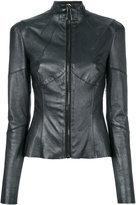 Talbot Runhof Fusion jacket - women - Silk/Lamb Skin/Spandex/Elastane - 34
