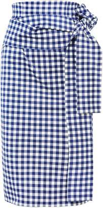Silvia Tcherassi Gingham Cotton-blend Skirt