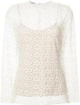 Stella McCartney layered lace top - women - Cotton/Polyester - 40