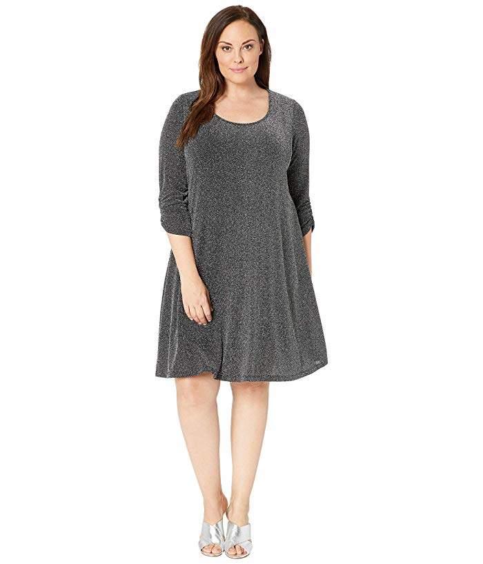 Plus Plus Size Silver Metallic Taylor Dress