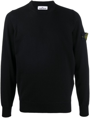 Stone Island Logo Patch Wool Jumper