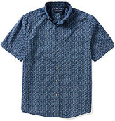 Roundtree & Yorke Short-Sleeve Cotton Printed Sportshirt