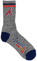 For Bare Feet Atlanta Braves Heathered Crew Socks