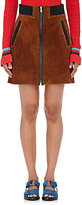 3.1 Phillip Lim Women's Suede Miniskirt-Brown