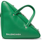 Balenciaga Duffle Small Leather Tote - Green