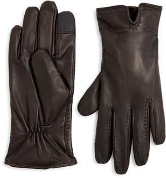 ZZDNU Lauren Lauren Cashmere Lined Leather Touchscreen Gloves