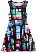 Terez Girls' Eyeshadow Print Stretch Knit Dress - Sizes 4-6X