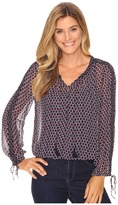Lucky Brand Beaded Trim Blouse