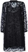 Just Cavalli V-neck sheer shift dress - women - Polyester/Viscose - 38