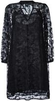 Just Cavalli V-neck sheer shift dress