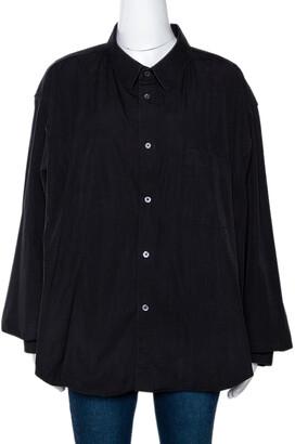 Vetements X Comme Des Garcons Black Cotton Oversized Shirt L