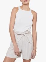 Mint Velvet Beige Striped Shorts, Neutral