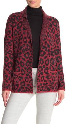 Joseph A Leopard Print Open Front Cardigan