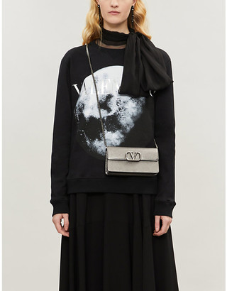 Valentino Moon-print cotton-blend jersey sweatshirt