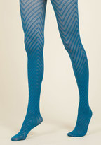 ModCloth Fashionably Emulate Tights in Teal