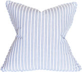 Barclay Butera Striped 22x22 Cotton Pillow, Blue