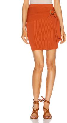 Jonathan Simkhai Jenny Knit Mini Skirt in Amber | FWRD
