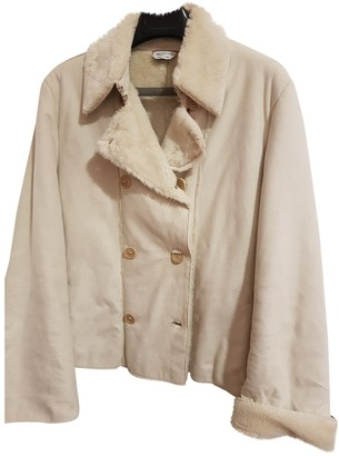 Max & Co. White Suede Jacket for Women