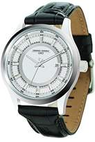 Jorg Gray Men's Quartz Watch with Silver Dial Analogue Display and Black Leather Strap JG6800-11