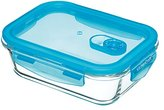 Kitchen Craft Pure Seal Airtight Glass Food Container / Oven Dish, 1-Litre (1.75 Pint) - Rectangular