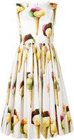 Dolce & Gabbana ice-cream print dress - women - Cotton - 46