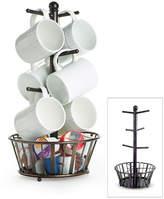 Mikasa Gourmet Basics Mug Tree Stand with Basket