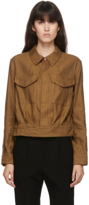 Regulation Yohji Yamamoto Tan Gabardine Paper Military Jacket