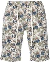 Manuel Ritz leaf print bermuda shorts