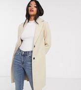 Only Petite tailored coat in cream