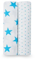 Aden Anais Aden + Anais Two Pack of Blue Star Swaddles