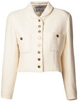 Chanel cropped clover button jacket