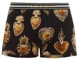 Dolce & Gabbana - Heart Print Stretch Cotton Boxer Briefs - Mens - Multi