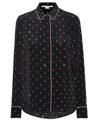 Stella McCartney Printed silk crApe blouse