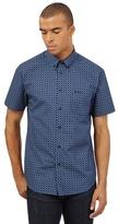 Ben Sherman Navy Diamond Tile Print Shirt