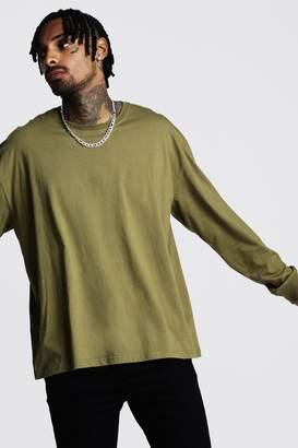 boohoo Oversized Long Sleeve T-Shirt