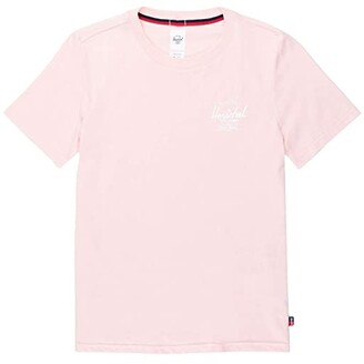 Herschel Tee (Classic Logo Rosewater/White) Women's Clothing