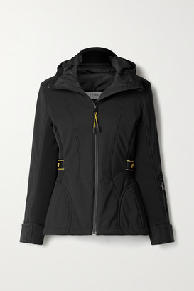 Fendi Rubber-trimmed Paneled Hooded Ski Jacket - Black