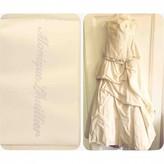 Monique Lhuillier White Silk Dress for Women Vintage