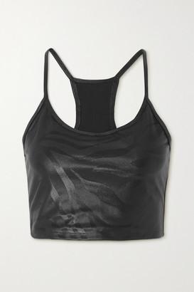 Koral Leah Printed Stretch Sports Bra - Black